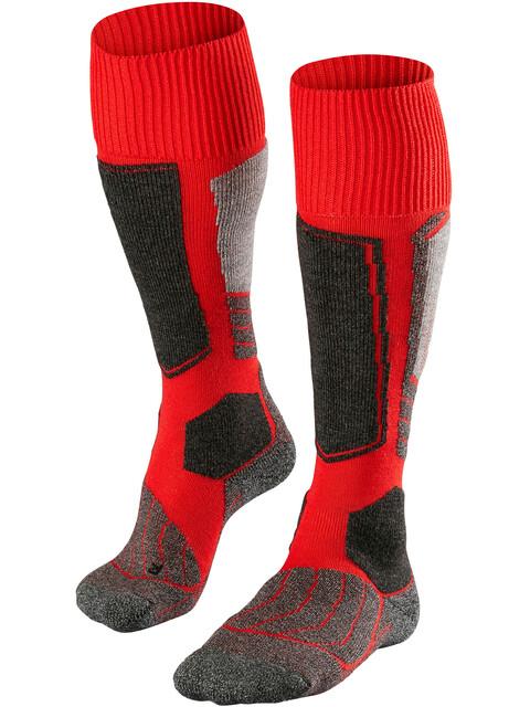 Falke SK1 Miehet sukat , harmaa/punainen
